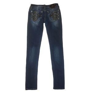 Miss Me Skinny fleur de lis Blue Jeans Size 27